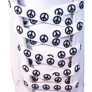 White peace shoelaces