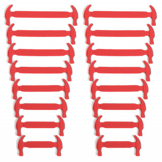 Red elastic silicone shoelaces