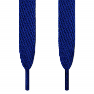 Super wide blue shoelaces
