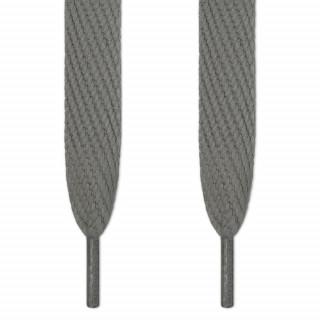 Super wide dark grey shoelaces