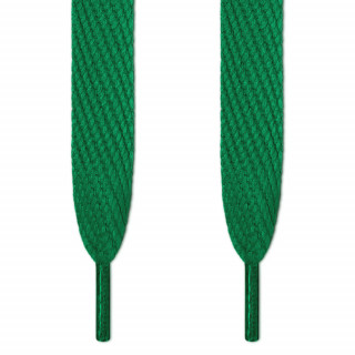 Super wide green shoelaces