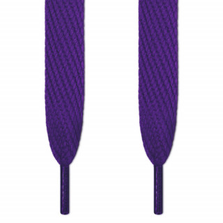 Super wide purple shoelaces