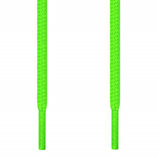 Round neon green shoelaces