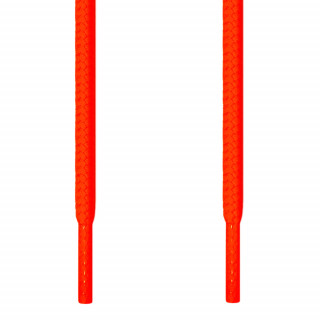 Round neon orange shoelaces