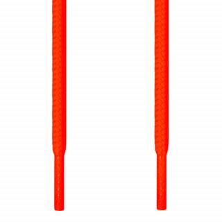 Round neon orange shoelaces