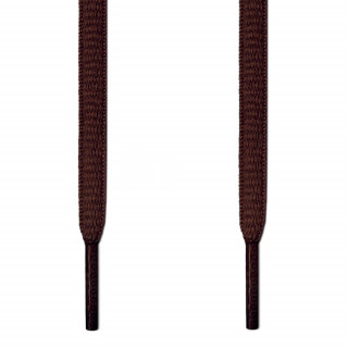 Oval dark brown shoelaces