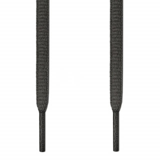 Oval dark grey shoelaces