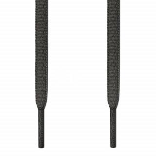 Oval dark grey shoelaces