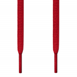 Oval red shoelaces