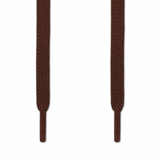 Elastic Flat Dark Brown Shoelaces (No Tie)