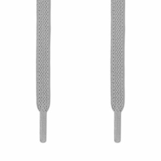 Elastic Flat Light Grey Shoelaces (No Tie)