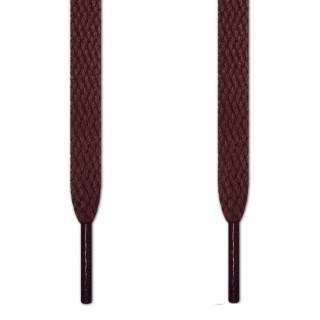 Flat dark brown shoelaces