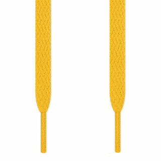 Flat yellow shoelaces